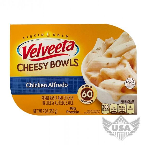 Velveeta Cheesy Bowls Chicken Alfredo