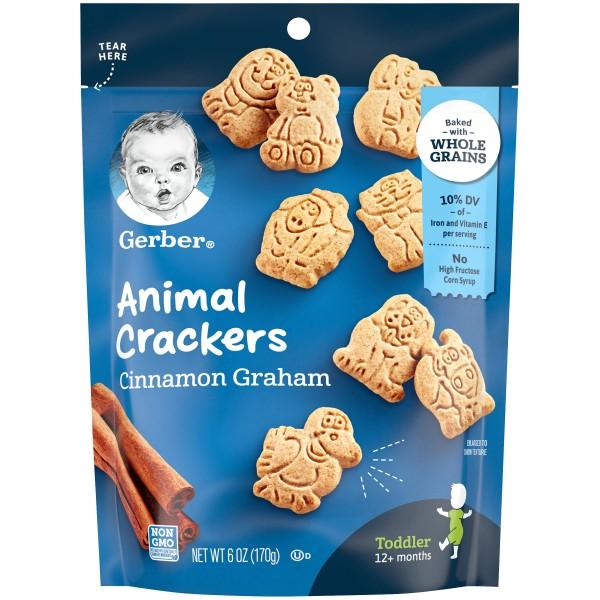 Gerber Animal Crackers Cinnamon Graham Crackers, 12+ Monate