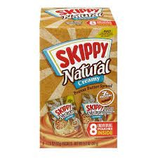 Skippy Natural creamy 8 Pouches