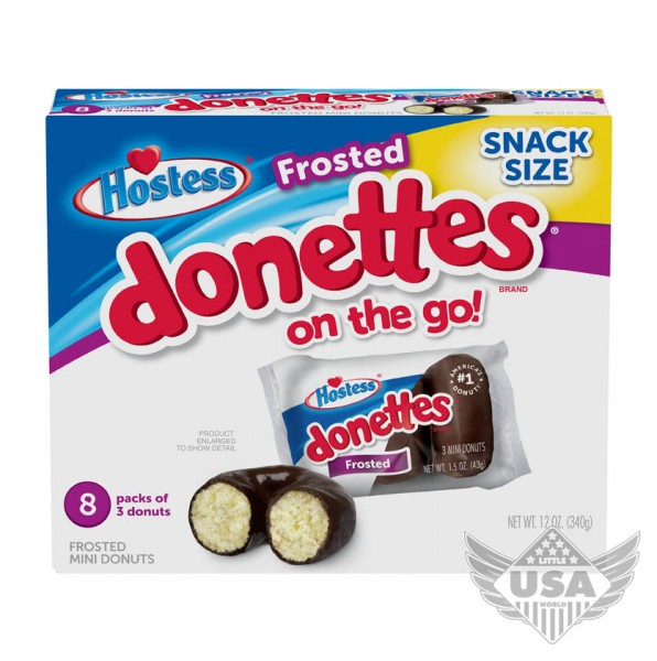 frosted donettes on the go chocolate snack size