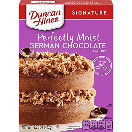 Duncan Hines Signature Perfectly Moist German Chocolate Cake Mix