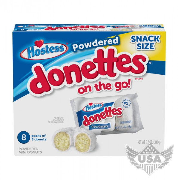 frosted Donettes Powdered donuts on the go