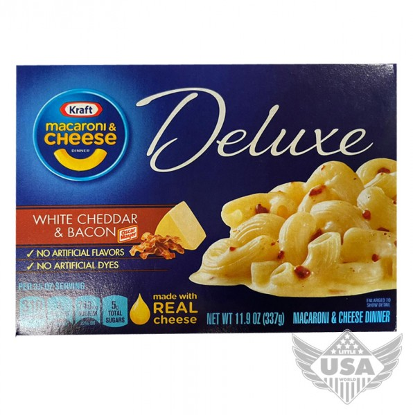 Macaroni & Cheese White Cheddar and Bacon Deluxe