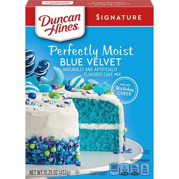 Duncan Hines Signature Layer Cake Mix Blue Velvet
