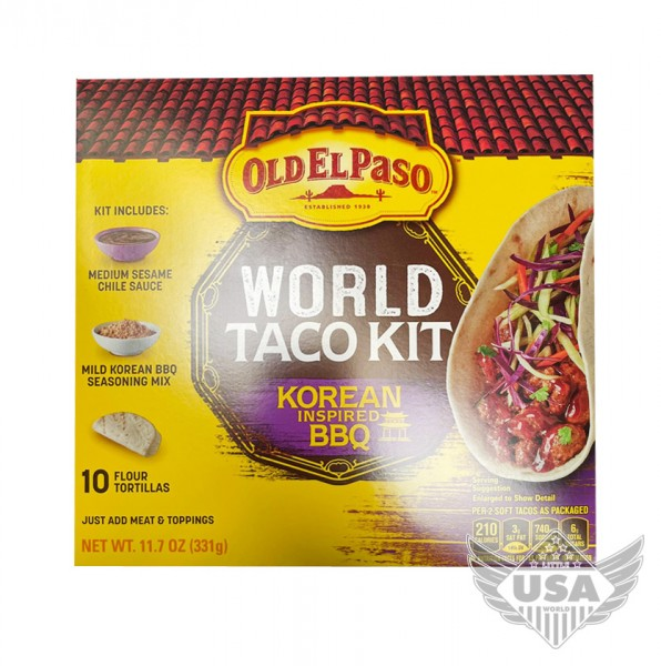 Old El Paso World Taco Kit Korean Inspired BBQ