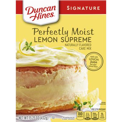 Duncan Hines Signature Perfectly Moist Lemon Supreme Cake Mix