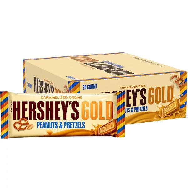 Hershey's Gold Peanuts & Pretzels, 24 Pack