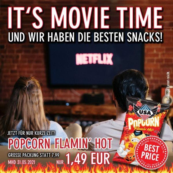 Little USA World Popcorn Flamin Hot Cheddar, MHD: 31.Mai 2021