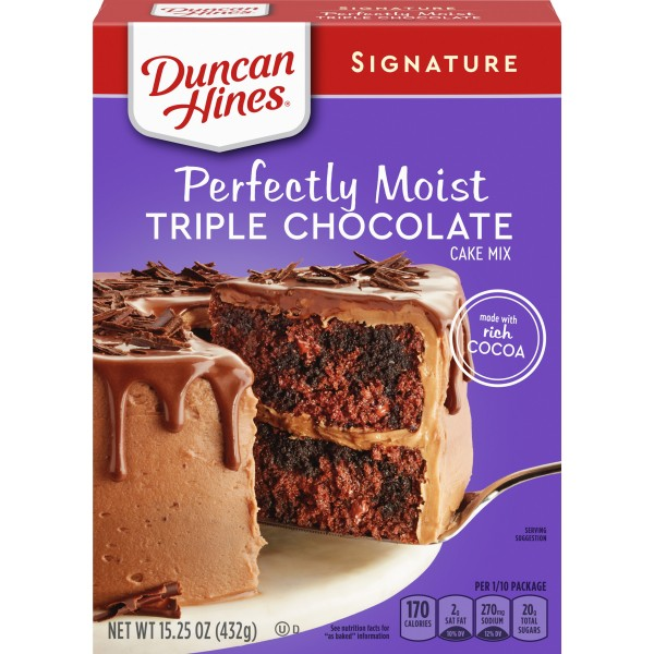 Duncan Hines Signature Perfectly Moist Triple Chocolate Cake Mix