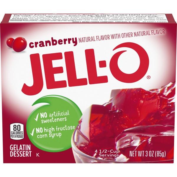 Jell-O Cranberry Gelatin Dessert