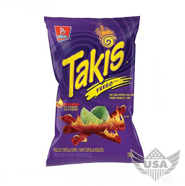 takis fuego extreme hot chili pepper & lime tortilla chips