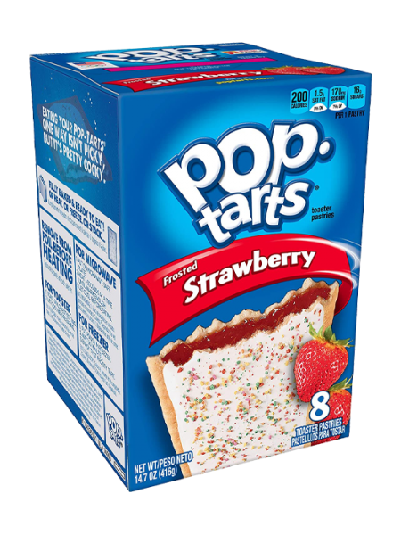 Kellogg's Pop-Tarts Breakfast Toaster Pastries, Frosted Strawberry,