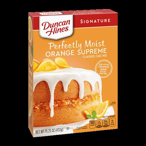 Duncan Hines Signature Perfectly Moist Orange Supreme Cake Mix